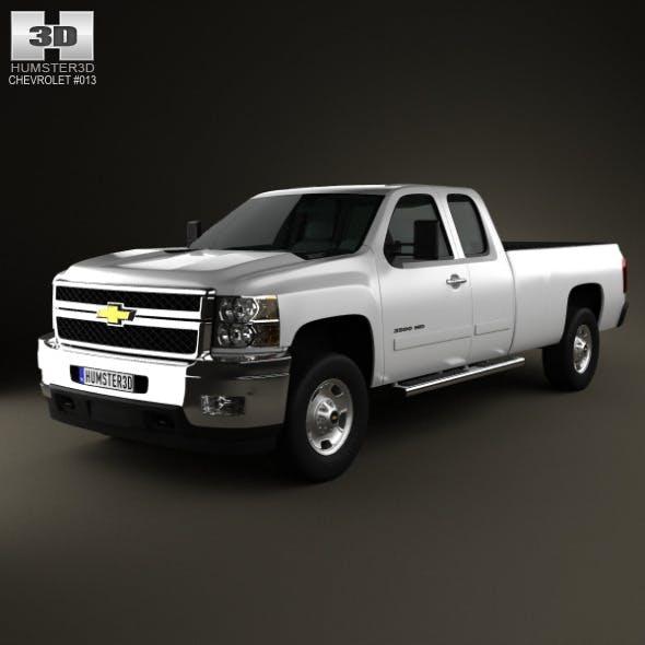 Chevrolet Silverado HD ExtendedCab LongBed 2011 - 3DOcean Item for Sale
