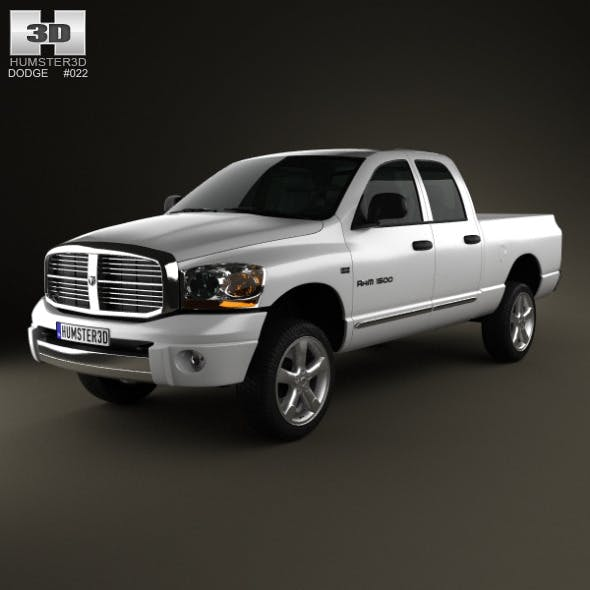 Dodge Ram 1500 Quad Cab Laramie 140-inch Box 2008 - 3DOcean Item for Sale