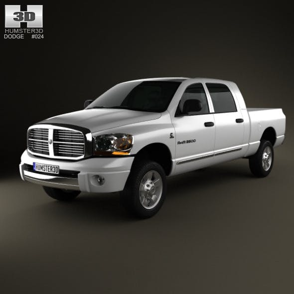 Dodge Ram 1500 Mega Cab Laramie 160-inch Box 2008 - 3DOcean Item for Sale