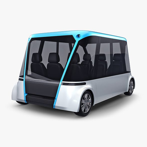 Electric Unmanned City Bus v 1