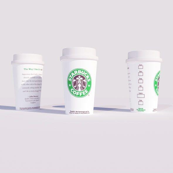 Starbucks Coffee Cup By CG Art