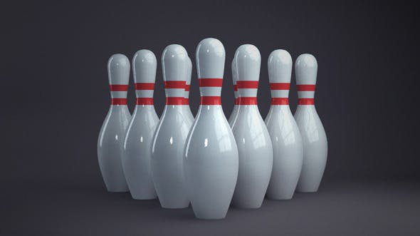 Bowling pins - 3DOcean Item for Sale