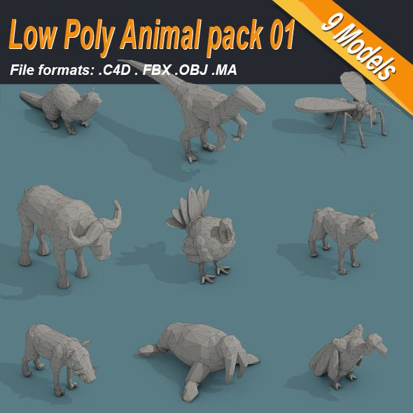 Low Poly Animal Pack 01 Isometric Icon