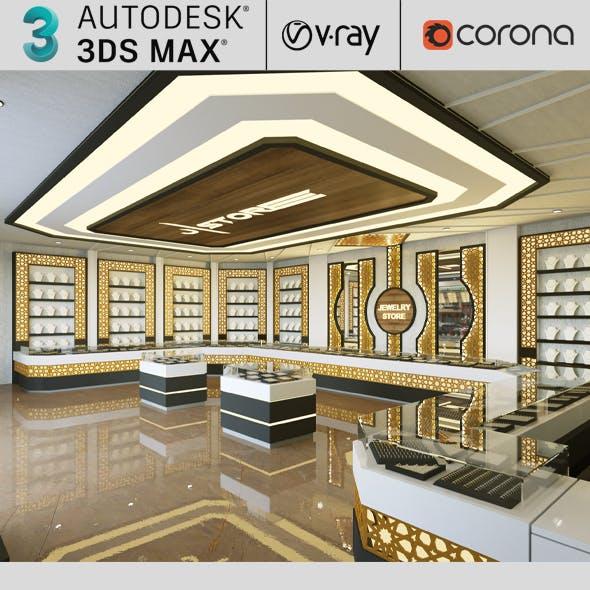 Jewelry Store Realistic Design