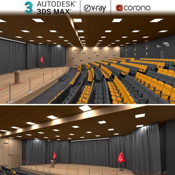 Theater Hall 3dsmax Realistic Design