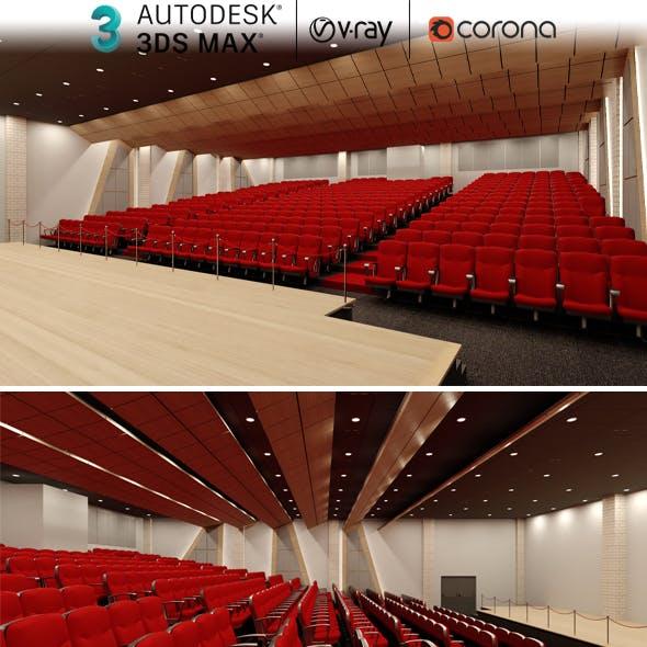 Auditorium Hall Concept 3ds Max Realistic Design