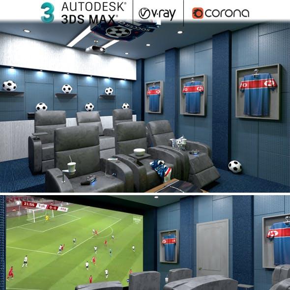 Home Cinema  Football Team Concept 3dsmax Realistic Design