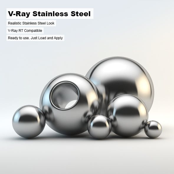 V-Ray Stainless Steel Material - 3DOcean Item for Sale