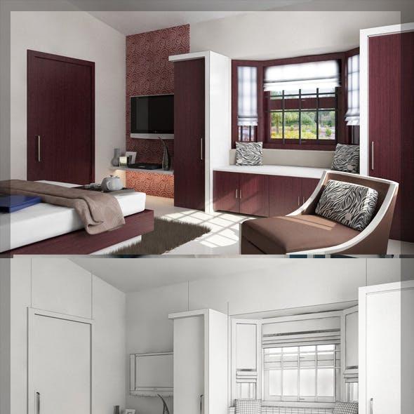 Bed Room 3d interior design 8080 106
