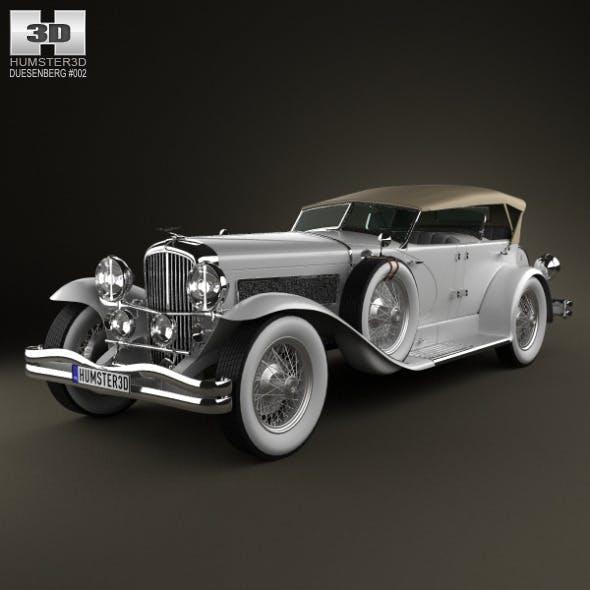 Duesenberg SJ Phaeton LWB LaGrande 1935 - 3DOcean Item for Sale