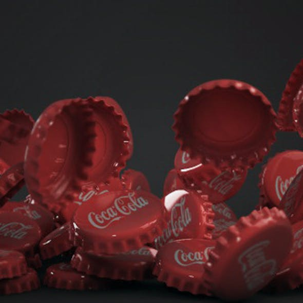 Bottle tin cap coca cola