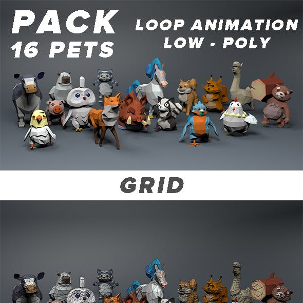Pack Pets / Animal / Zoo / Loop Animations