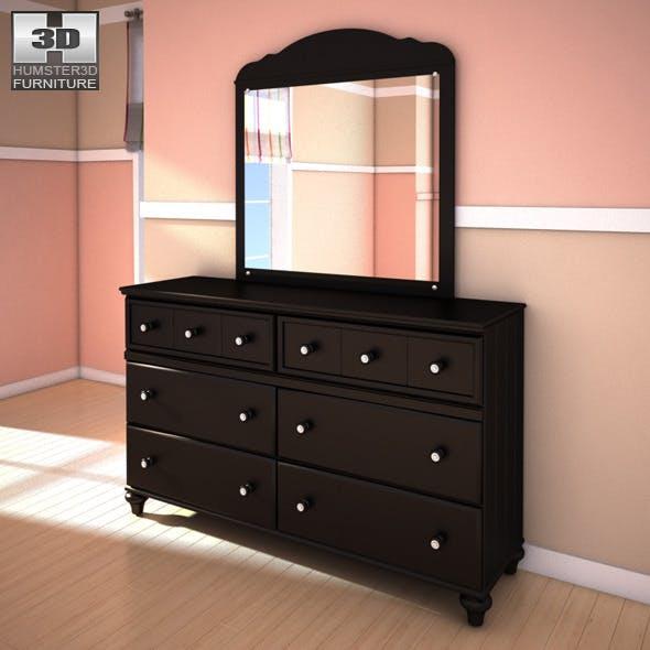 Ashley Jaidyn Dresser & Mirror - 3DOcean Item for Sale