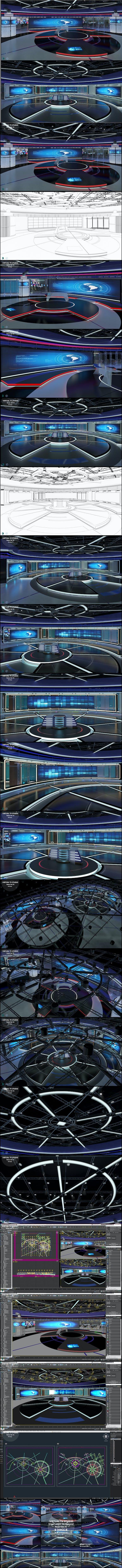 Virtual TV Studio News Set 31 - 3DOcean Item for Sale