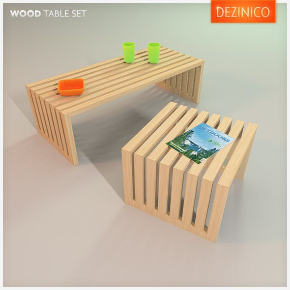 Wood Table Set