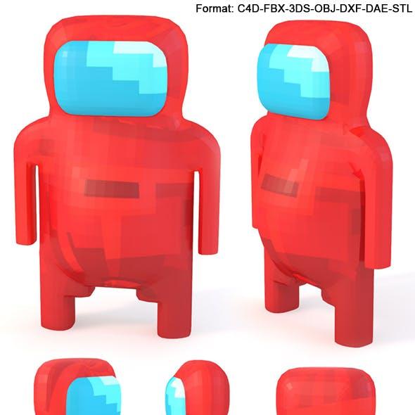 Pixel Astronaut Character