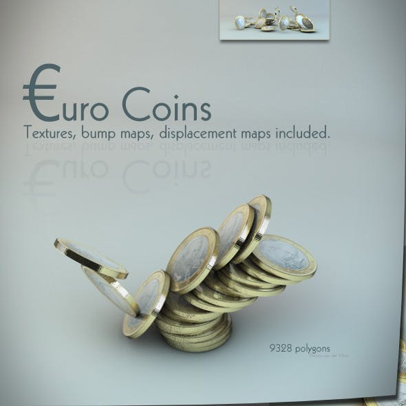 euro coin (s) - 3DOcean Item for Sale