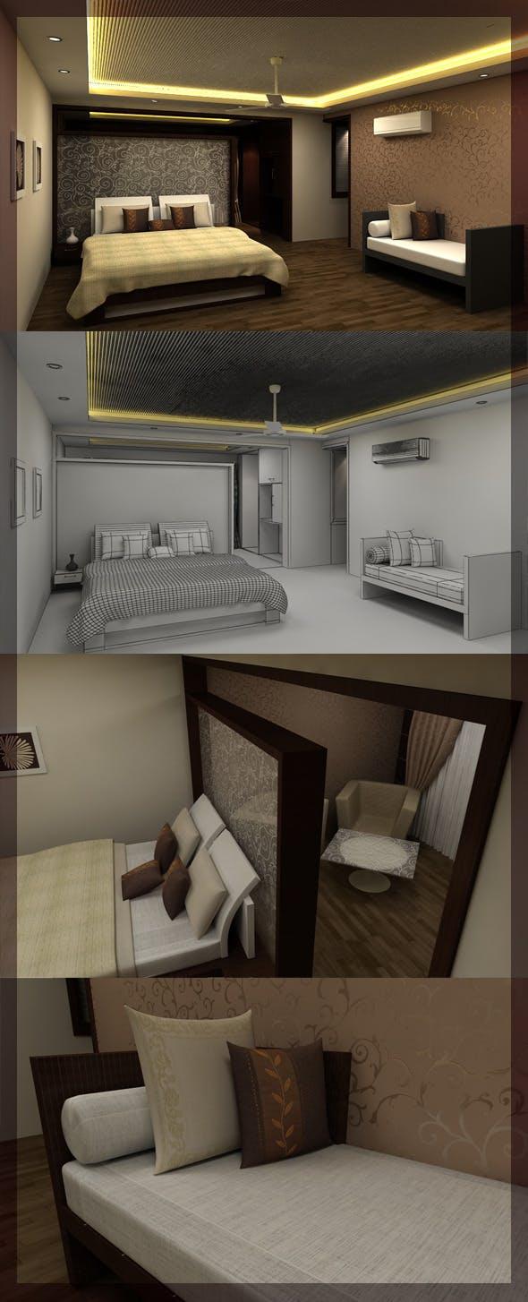 Bed Room 3d interior design 8080 107 - 3DOcean Item for Sale