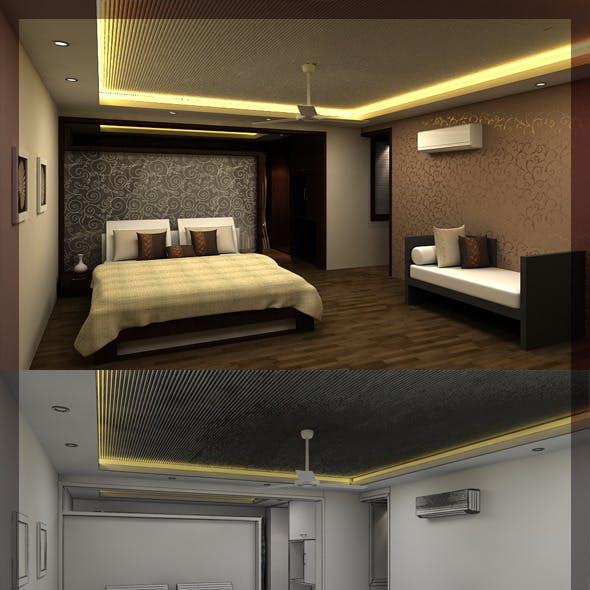 Bed Room 3d interior design 8080 107