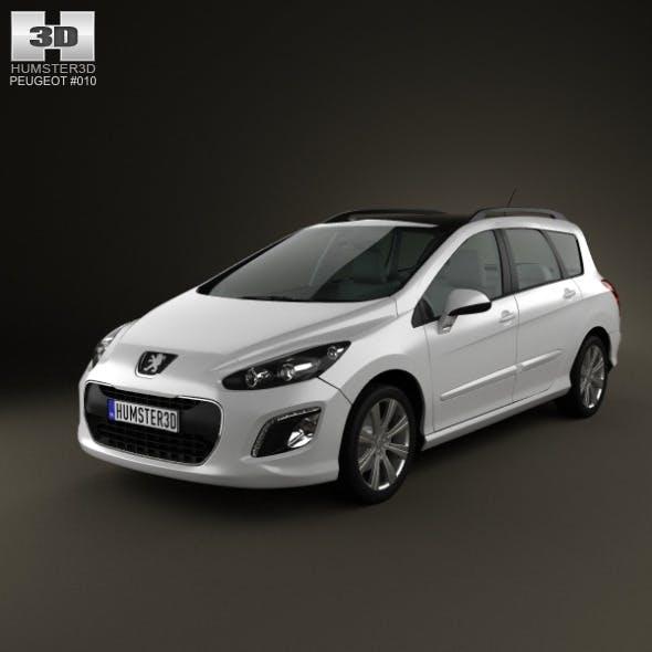 Peugeot 308 SW 2012 - 3DOcean Item for Sale