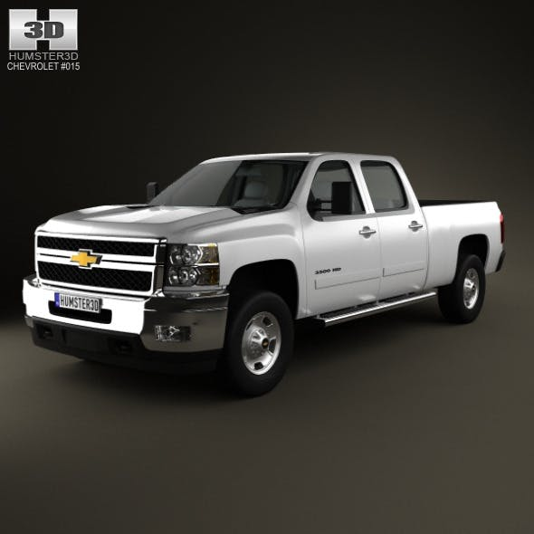 Chevrolet Silverado HD CrewCab StandardBed 2011 - 3DOcean Item for Sale