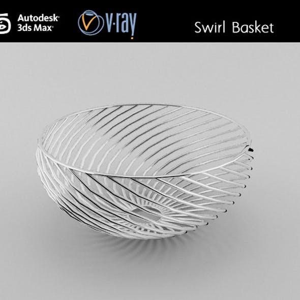 Swirl wire Basket