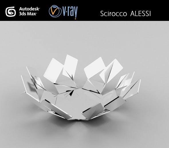 Scirocco ALESSI basket - 3DOcean Item for Sale