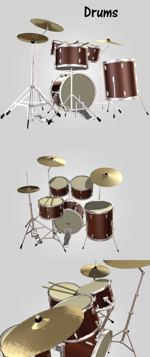 Drums - 3DOcean Item for Sale