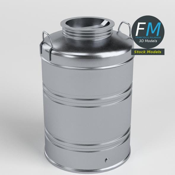 Closed drum for olive oil - 3DOcean Item for Sale