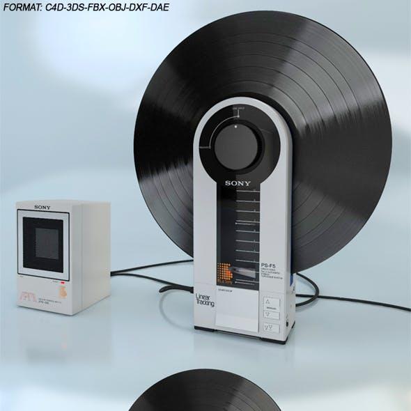 SONY PS-F5 Flamingo & SONY APM-090 Amplifier Powered Monitor Speaker