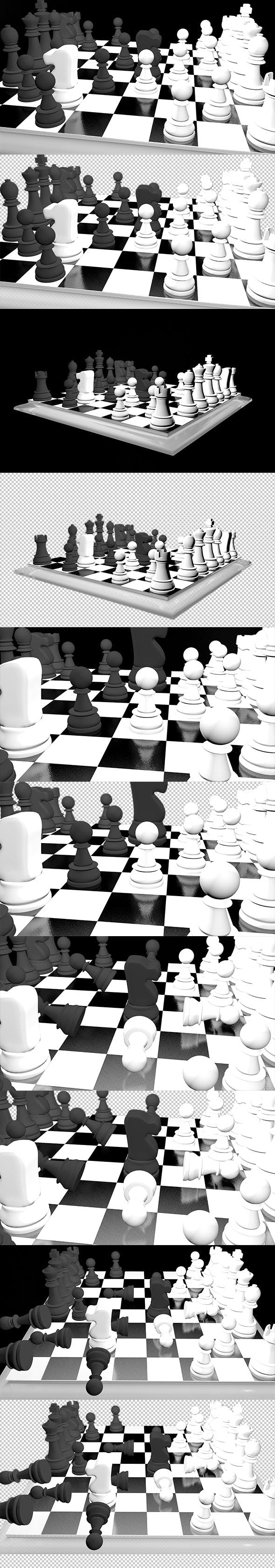 Animated Chess - 3DOcean Item for Sale