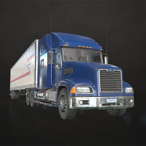 Semi Truck Van Trailer - Low Poly - 3DOcean Item for Sale