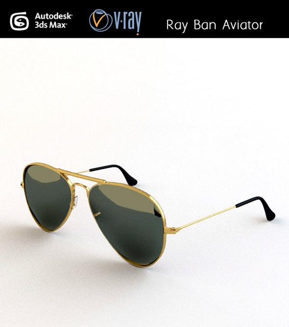 Ray ban Aviator - 3DOcean Item for Sale