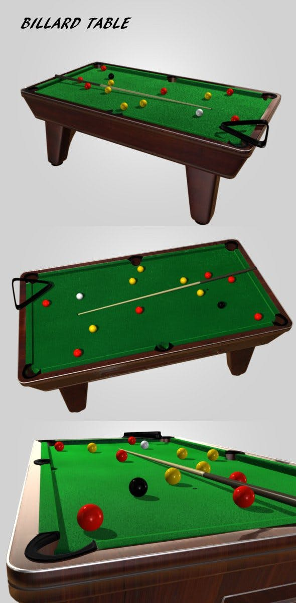 Billard table - 3DOcean Item for Sale