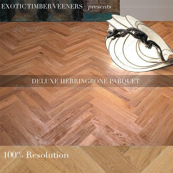 Vintage Herringbone Oak Parquet