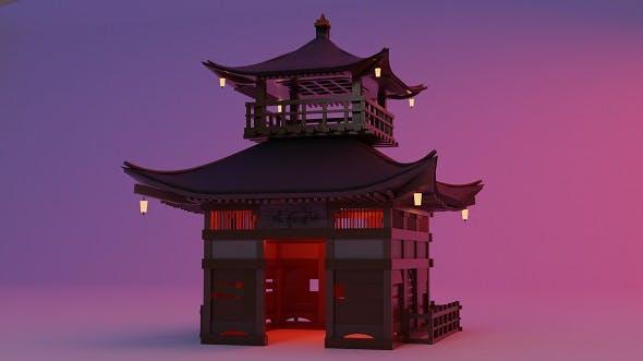 Fureai-Kannon-do hall Japanese Garden Structures Pavilions - 3DOcean Item for Sale