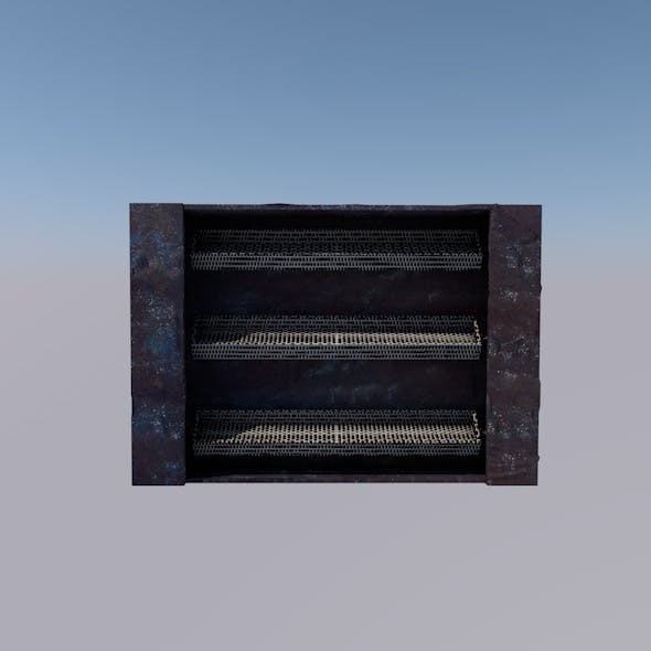 Realistic Textured Rack