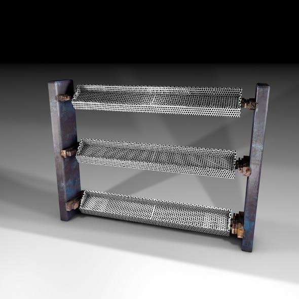 Realistic Backless Textured Rack