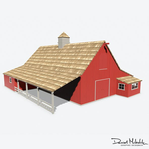 Red Barn PBR - 3DOcean Item for Sale