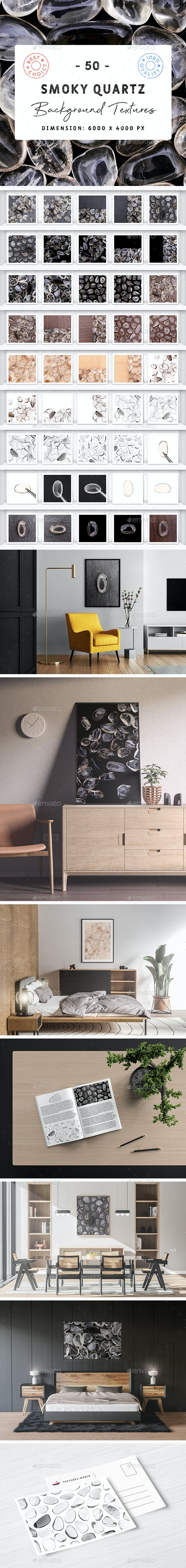 50 Smoky Quartz Background Textures - 3DOcean Item for Sale
