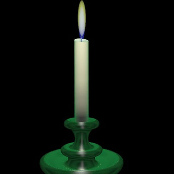 Low-poly realistic candlestick.