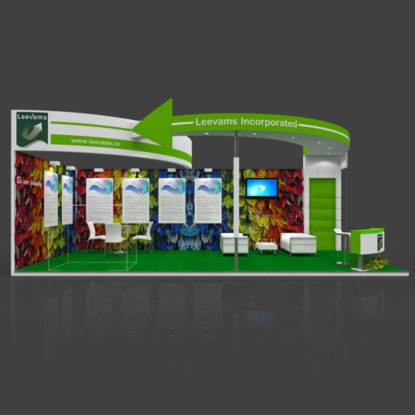 Exhibition Booth 3D Model - 9x4 mtr