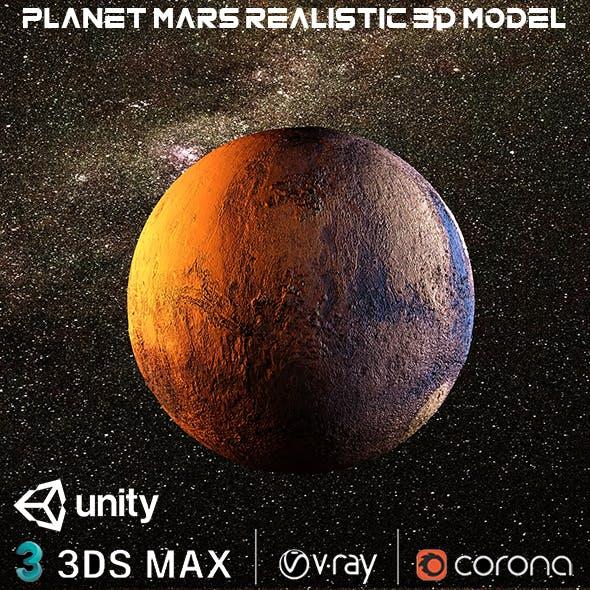 Planet Mars Realistic Design