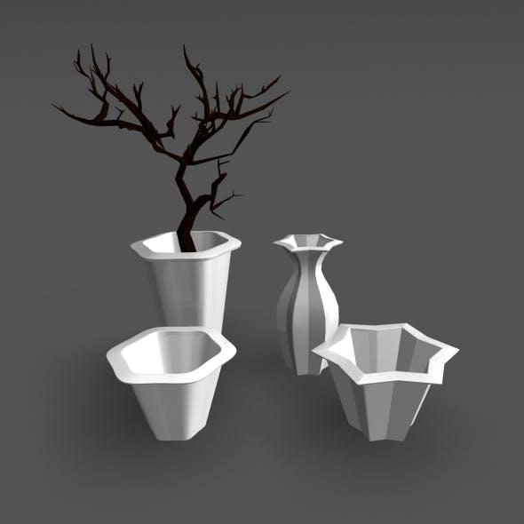 dead tree and flower vase
