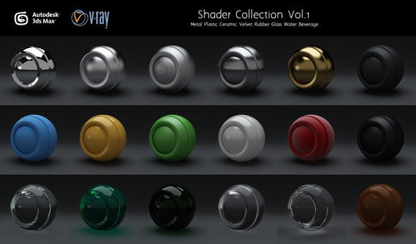 Vray Shaders Set.1 - 3DOcean Item for Sale