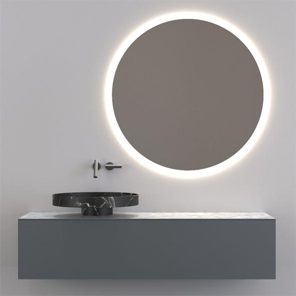 Photorealistic bathroom cabinet