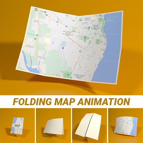 Folding Map Animation