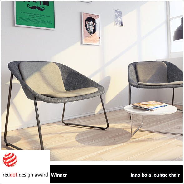 inno kola lounge chair + vray materials