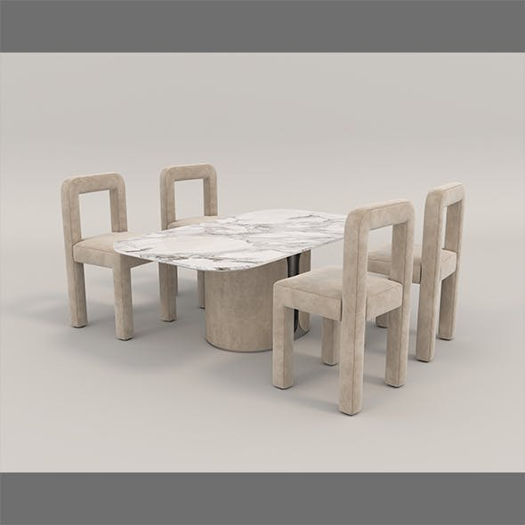 Contemporary Design Table and Chair Set 14