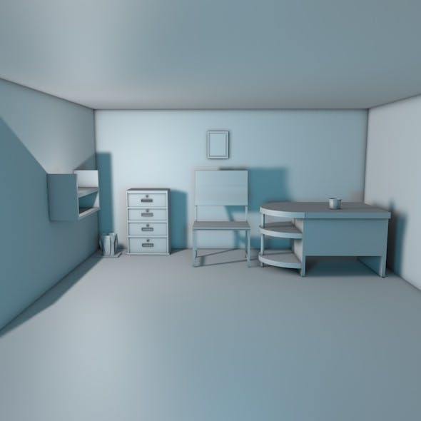 Low Poly Office Interior Kit